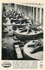 Washington~Grand Coulee Dam~Generator~Real Photo Postcard c1950