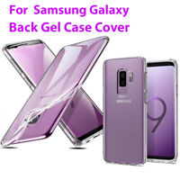 Case For Samsung Galaxy S9 S9 Plus Clear Back Silicone Soft Gel Phone Case Cover