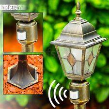 Wege Lampen mit Bewegungsmelder Aussen Steh Leuchten Garten Pollerleuchte Glas