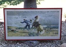 "CHRYSLER SAFE-GUARD HYDRALLIC BRAKES-JOHN CLYMER ART PRINT ""TEAMWORK"" 1947 ORIG"