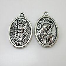 100pcs of Religious Ecce Homo Mater Dolorosa Medal Pendant
