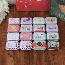1PC Empty Tinplate Metal Trinket Candy Jewelry Coin Container Storage Box Case