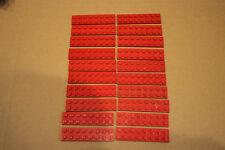(861) Lego 20x Rot  8x2x0,33 Steine Basis Stein Haus City kein Kg Feuerwehr