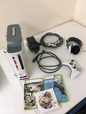 Microsoft Xbox 360 Pro System Bundle 60GB White W/ Controller Cables and 3 Games