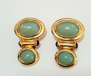 """Elizabeth Taylor for Avon """"Taylored Style Collection"""" Vintage Clip on Earrings"""
