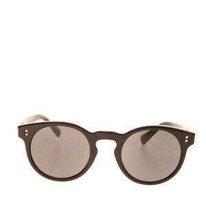 RRP €210 VALENTINO Keyhole Round Sunglasses Rockstuds Glossy Frame Made in Italy