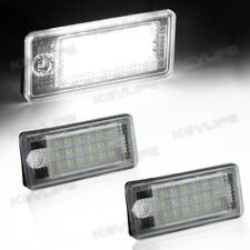 2pcs White 18-SMD LED License Plate Light Lamp Error Free For AUDI Q7 Q5 A4 A6