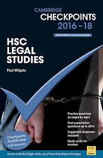 NEW Cambridge Checkpoints HSC Legal Studies 2016-18 by Paul Milgate