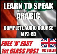 LEARN TO SPEAK ARABIC complete language AUDIO course CD MP3 easy fast method
