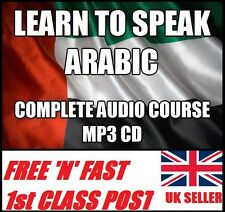 LEARN TO SPEAK ARABIC complete language course CD MP3 easy fast method
