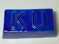 OLD VINTAGE 1960s KANSAS JAYHAWKS KANSAS UNIVERSITY KU JAYHAWK BLUE PAPERWEIGHT