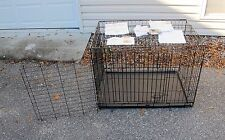 Midwest Life Stages Black Wire Double Door Dog Crate / Cage 1636DD