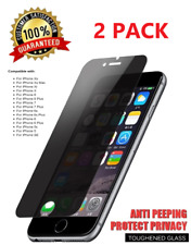 2x 9H Privacy Anti-Spy Tempered Glass Screen Protector for iPhone 5 6 7 8 Plus X