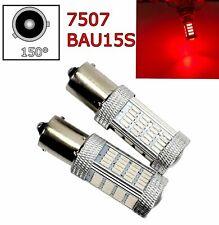 2pcs Red Front Turn Signal Light BAU15S 7507 PY21W 92 LED Bulb Lamp A1 LAX