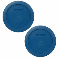 Pyrex 7200-PC Blue Spruce Round Plastic Storage Replacement Lid Cover (2-Pack)