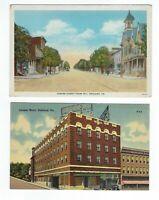 LOT of 2 Ashland Pennsylvania Linen White Border Postcards