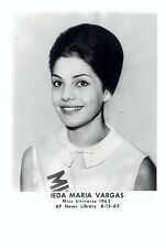 1963 Vintage Photo Miss Universe Beauty Ieda Maria Vargas from Brazil poses