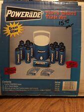 Vintage Powerade 32 oz 2 Gallon Water Bottle with Squeeze Cap Set