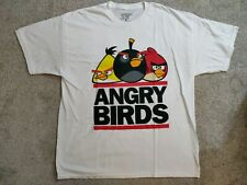 ANGRY BIRDS Men's XL White Short Sleeve GRAPHIC T-SHIRT
