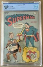 Superman #37 (1945) CBCS 4.5 -- White pages - Prankster cover Jerry Siegel CGC