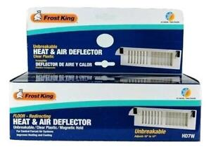 Frost King Floor Redirecting Heat & Air Deflector Clear Plastic HD7W NEW!
