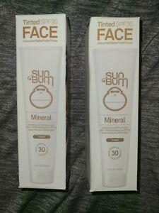 (2) Sun Bum Tinted SPF 30 Face Mineral Sunscreen