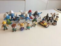 Bundle Of Toy Figures.smurfs.wallace.noddy.rugrats.snoopy.bob Builder.used.GC