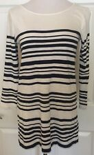 Joie Navy Blue and White Striped 3/4 Sleeve Shirt 100% Cotton Womens Size Small