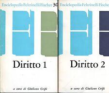 Giuliano Crifò DIRITTO ENCICLOPEDIA FELTRINELLI FISCHER 2 Voll