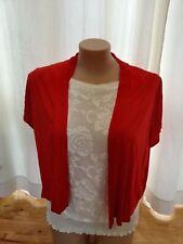Crossroads RED short sleeve cardi cardigan Jumper 18 open drape NEW