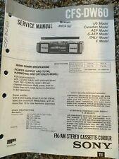 Sony ORIGINAL Service Manual for CFS-DW 60; FM/AM Stereo Cassette-Corder