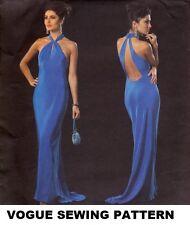 Tom & Linda Platt Draped Evening Cocktail Prom Gown Pattern Vogue Designer 16-20