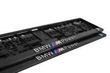 2x Bmw M  in 3D Kennzeichenhalter Kennzeichenunterlage Kennzeichen Bmw M Power