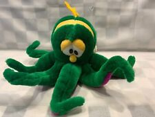 "Vintage Green Octopus Sugar Loaf Plush 15"" Stuffed Toy"