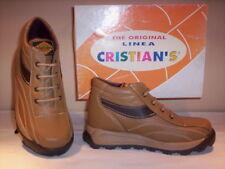 Scarpe alte polacchini scarponcini Cristian's bimbo bambino pelle marroni new 31