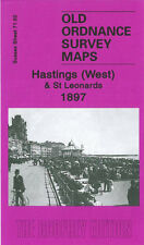 OLD ORDNANCE SURVEY MAP HASTINGS ST LEONARDS WARRIOR SQUARE GENSING GARDENS 1897