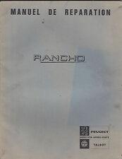 Manuel de réparation RANCHO - Peugeot- Talbot
