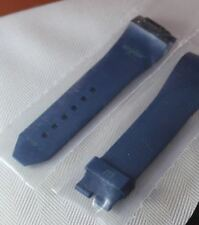 Large Original WYLER Genève INCAFLEX CODE R  Blue Rubber Strap Band