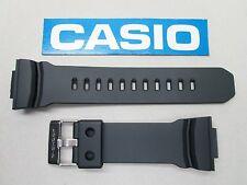 Genuine Casio G-Shock GA-200 GA-201 black resin rubber watch band strap