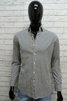 RALPH LAUREN Uomo Camicia a Righe Blu Camicetta Maglia Taglia XS Shirt Man