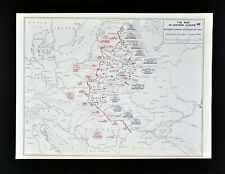West Point WWII Map Russian Summer Offensive 1944 Poland Russia Vilnius Minsk