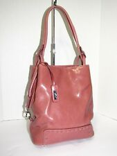 c6db51363572 RINA RICH Vintage Pink Leather Bucket Shoulder Handbag