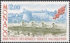 MONACO 1988 società nautiche/REGATA/Canottaggio/Sport/Barche/CASTLE 1v (mc1126)