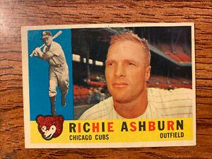 Vintage 1960 Topps Richie Ashburn #305 Chicago Cubs Ex+