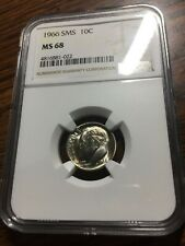 1966 Roosevelt Dime SMS NGC MS68 Mint State 68