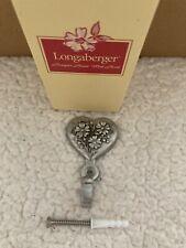 Longaberger metal Bouquet Heart Wall Hook 2001 Nib