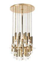 stunning ernst palme swarovski crystal and gilt brass chandelier