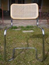 rare shaped Marcel Breuer Cane tubular  Arm Chair Honey Oak
