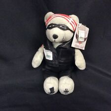 "Motorcycle Stamp Bear 9"" Plush Stuffed Toy USPS Timeless Toys ©2003"
