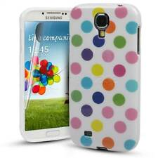 For Samsung Galaxy S4 IV Gel Case Durable 100% Fitted Polka Dot Silicone Cover